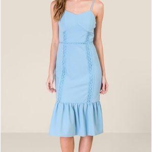 Francesca's Blue Crochet Dress
